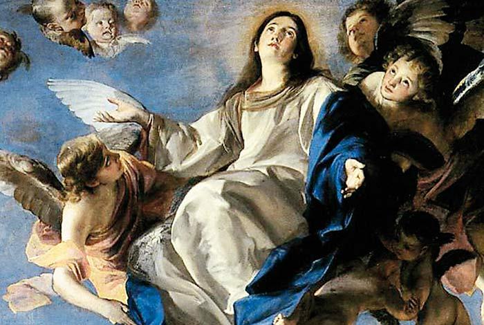 Visione dell'Assunzione di Maria al cielo a San Domenico - Regina del  Rosario